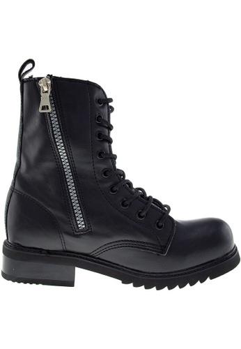 Maxstar black Maxstar Women's 303 Zipper Mid Calf PU Combat Boots US Women Size MA164SH83FMQSG_1