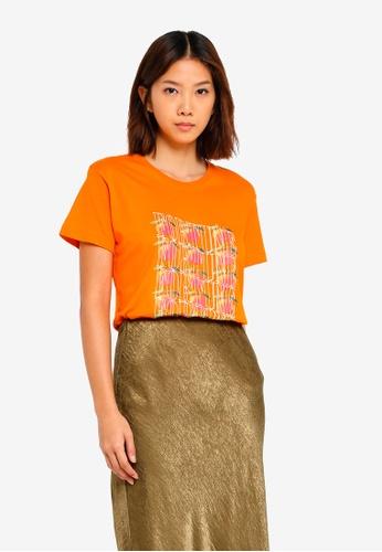 Cotton On orange Tbar Fox Graphic T-Shirt 66F42AA0416E41GS_1