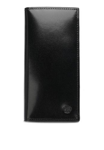 Wild Channel black Faux Leather Long Wallet 274AEAC1C7C551GS_1