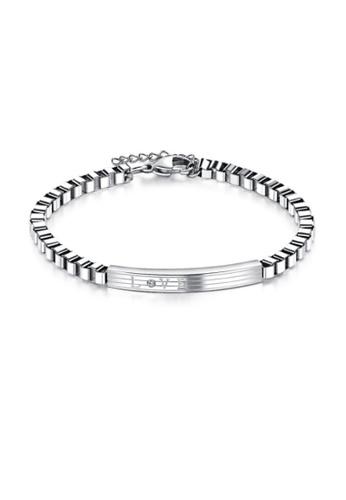 ADORA Stainless Steel Silver Bracelet F73F9ACDD9C9DCGS_1