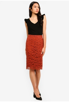 ced2f7da38b6 30% OFF FORCAST Jemima Lace Skirt HK$ 409.00 NOW HK$ 286.30 Available in  several sizes