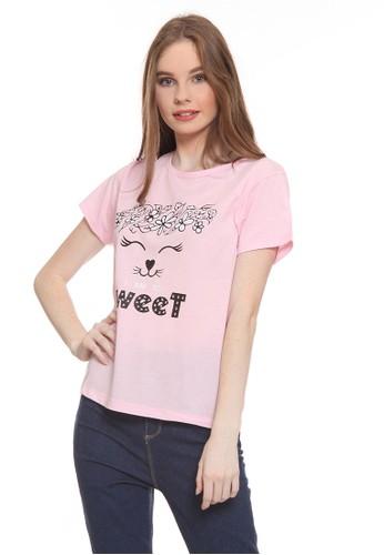 Habitat pink Danita I am so Sweet T-Shirt F26EDAAD905F3EGS_1