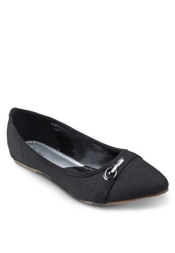 Coveesprit hk storet 撞色扣環平底鞋, 女鞋, 鞋