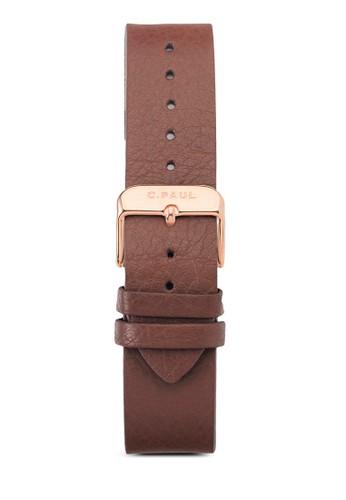 3esprit outlet台北5mm 皮革錶帶, 錶類, 皮革錶帶