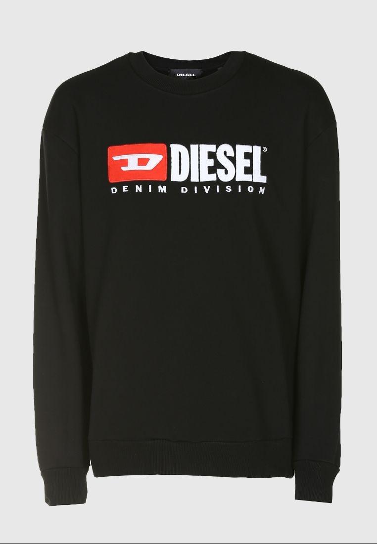 Crew S Black Sweatshirt Diesel Crew Division Neck r181E6
