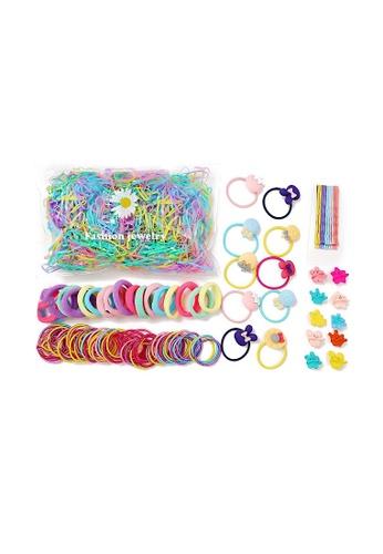 Glamorbit multi Hair Tie and Clips Set AFECDACABF5C97GS_1