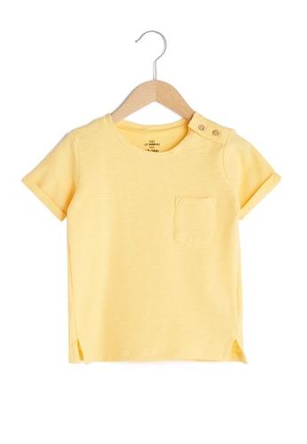 LC Waikiki yellow Pocket Tee 5696FKAB044456GS_1