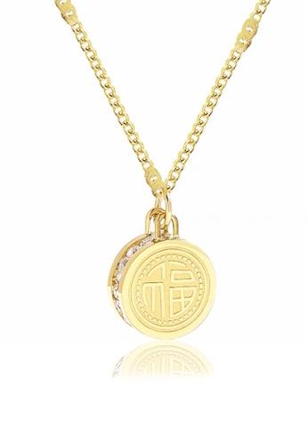 CELOVIS gold CELOVIS - Golden Luck Symbolic Necklace in Gold 00433AC56006FBGS_1