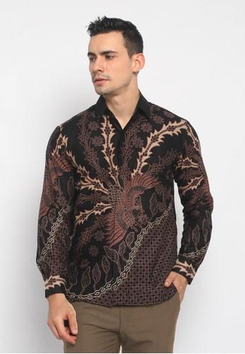 Batik Mayung black Black Resi Abyasa Kemeja Batik Slimfit Lengan Panjang 3B893AACC44A6EGS_1