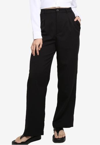 H&M black Tailored Trousers C19CBAAAF4CE1CGS_1