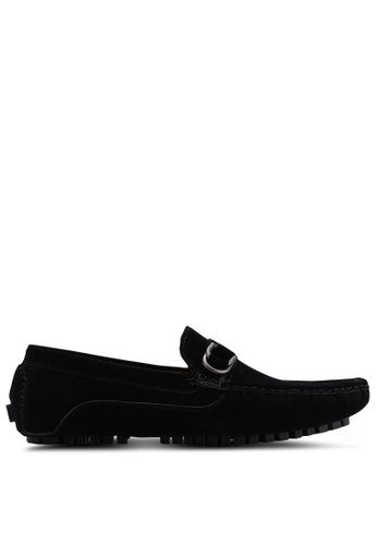 High Cultured black D-Ring Loafers 319 949DBSH90E9B48GS_1
