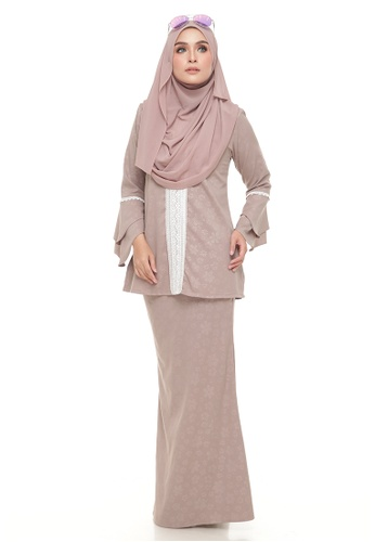 Kurang Luna Lace (Cappuchino) from Ms.Husna Apparel in Brown