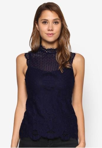 維多利亞蕾絲無袖T-shirt、 服飾、 上衣DorothyPerkins維多利亞蕾絲無袖上衣最新折價