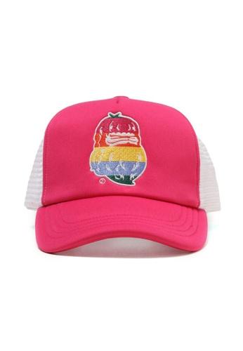 Fingercroxx pink Bigfoot mesh cap BA119ACFCE12D2GS_1