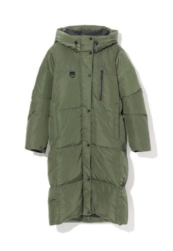 LOS ANGELES PROJECT -FASHION green Quilted down coat. AE99EAA81DBD4FGS_1