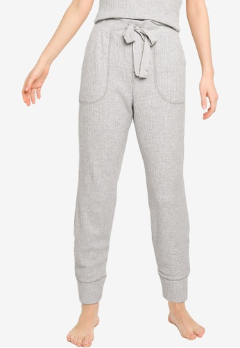 Abercrombie & Fitch grey Waffle Jogger Pants 7547DAA8CE015FGS_1