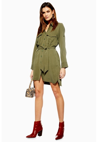 Official Website fashion styles find lowest price Utility Shirtdress Mini Dress