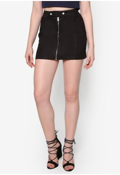 Love A Line Mini Skirt With Front Zip