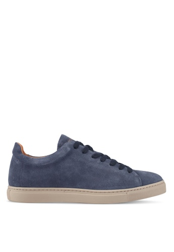 Selected Homme blue Shndavid Suede Sneakers E0429SHD1572B1GS_1