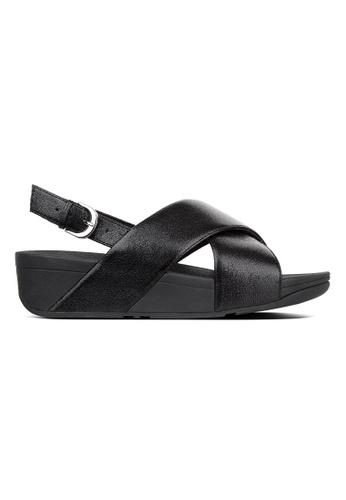 49d909713 Fitflop black Fitflop Lulu Molten Metal Sandals (Black) 9485CSHF9AFDE9GS 1