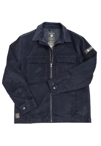 East Pole navy Men's Corduroy Multi Pockets Zip Collar Shirt Jacket 0B5F7AA85CBDE1GS_1