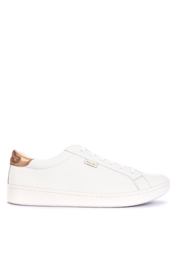 Keds white and pink Ace Leather Sneakers DF025SHCF55EDAGS_1