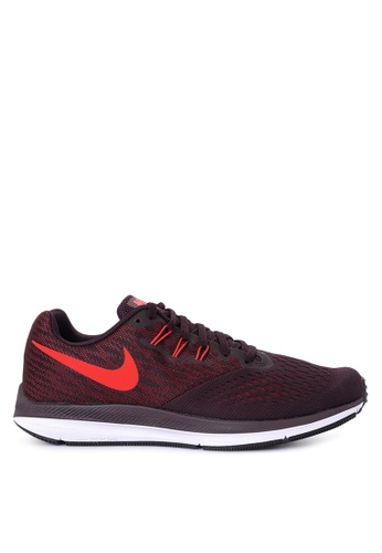 Nike black and red Men's Nike Air Zoom Winflo 4 Running Shoes NI126SH0JE80PH_1