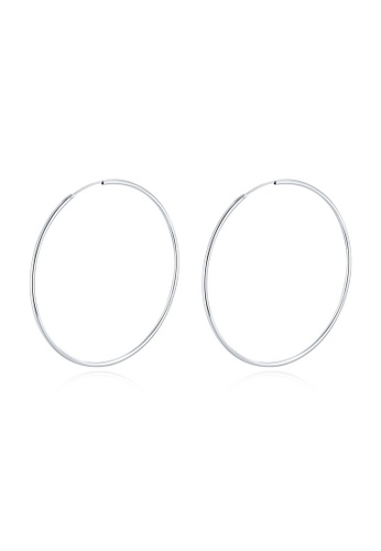 MBLife silver 925 Sterling Silver Polished Endless Hoop Earrings (80mm) B7FA2AC02F0AB7GS_1