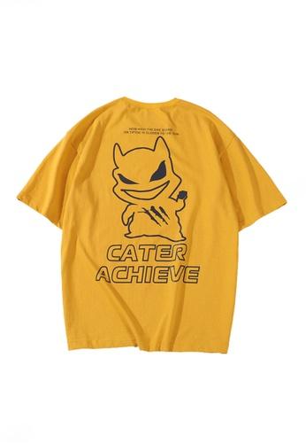 Twenty Eight Shoes yellow VANSA Unisex Colorful Pattern Short-sleeved T-Shirt VCU-T1026 1FA2CAA7A07F49GS_1
