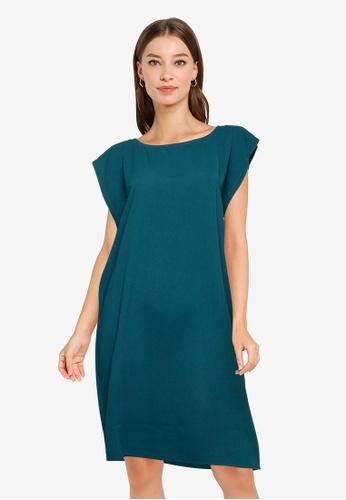 ZALORA WORK green Seam Detail Mini Dress BEE7EAA8A9651DGS_1