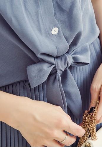 Jual Eyescream Knot Front Pleated Dress Original