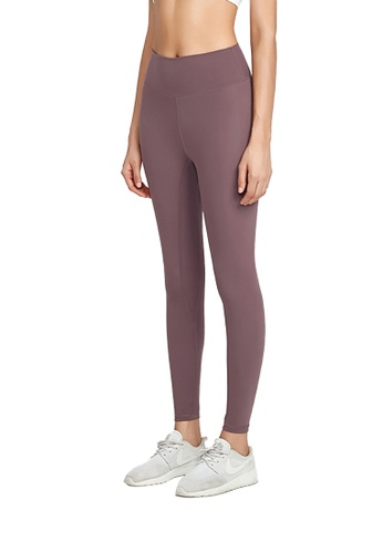 B-Code purple ZWG1115b-Lady Quick Drying Running Fitness Yoga Leggings-Purple FEC34AA660593FGS_1