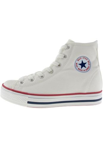 Maxstar 白色 新款韩国鞋C1-7H時尚帆布布混合女白色 US Women Size MA345SH22HDXTW_1