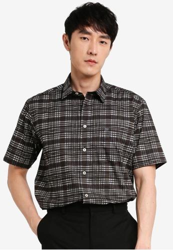 John Master black John Master Men Timeless Regular Fit Short Sleeve Shirt - Black 7068125-G9 E487BAA73721EDGS_1