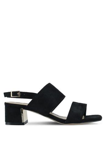 Carlton London black Low Strappy Heels 36C67SHC9D9DFDGS_1