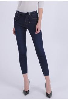 095e2d4c415 Drawstring Jeans - Navy 88400AA1F06F1AGS_1