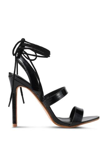 Public Desire black Milford Lace Up Heels PU378SH0SIQ9MY_1