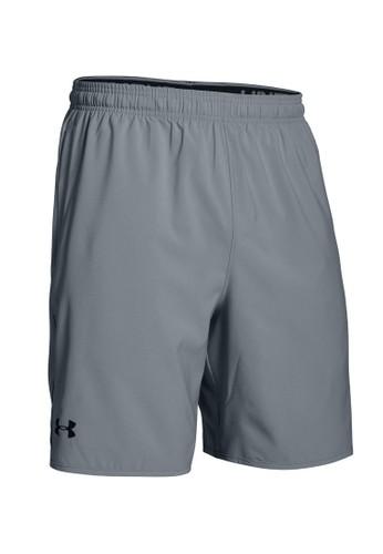 Under Armour grey UA Qualifier Woven Shorts 699B1AAA68D8F8GS_1