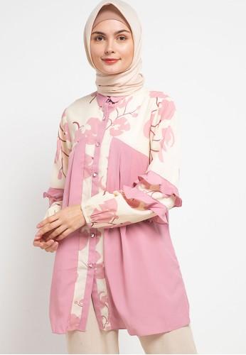 Allea by Itang Yunasz pink Karla Blouse B7D95AAFD64438GS_1
