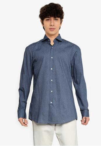 BOSS 藍色 Jason Slim Fit Shirt - BOSS Men BEA05AA1809CD7GS_1