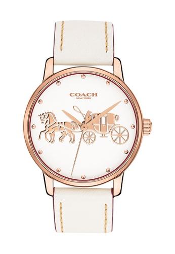 Coach beige Coach Grand Chalk Women's Watch (14502973) B5F87AC4F7E4DEGS_1