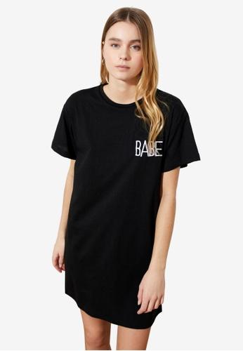 Trendyol black Babe T-Shirt Dress CF18FAAE791837GS_1