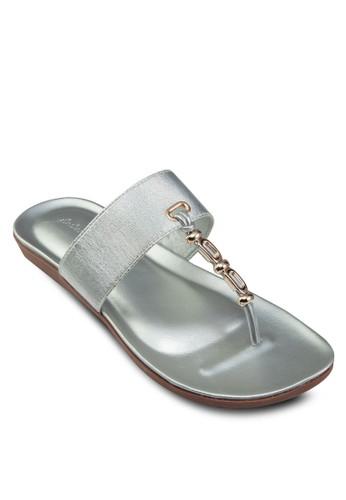 閃飾夾腳涼鞋, 女鞋,esprit 中文 涼鞋