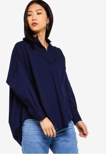 0c105319cbf Buy French Connection Rhodes Poplin Popover Shirt