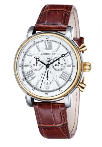 Thomas Earnshaw brown Thomas Earnshaw LONGCASE 43MM ES-0016-05 Men's Brown Genuine Leather Strap Watch 0F7B6AC8552CE1GS_1