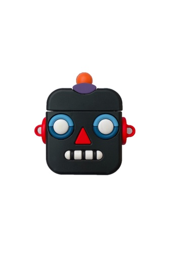 Kings Collection black Black Robot AirPods Case (KCAC2096) 06011ACFEFDC02GS_1