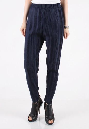 Meitavi's Plisket Threads Legging Pants - Navy