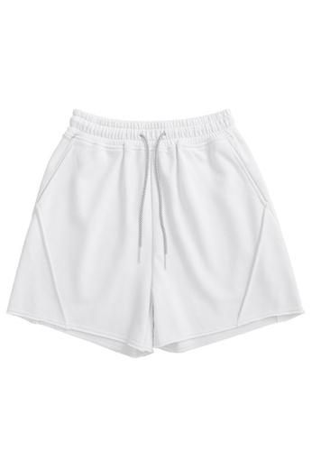 Twenty Eight Shoes white Soft Knitted Sports Shorts 6050GS21 88DBCAA25B2FECGS_1