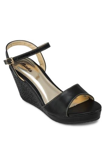 Uny 繞踝雕花厚底涼鞋, 女zalora 手錶 評價鞋, 楔形鞋