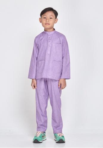 MOTHER & CHILD purple Baju Melayu Sultan Exclusive Kids E6BECKA1128E8FGS_1